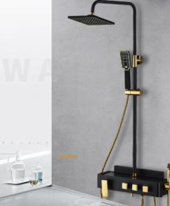 Čierny sprchový set Wanfan